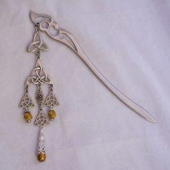 celtic knot hair stick gold