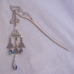 celtic knot hair stick half plated